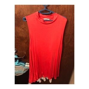 Forever 21 Coral T-Shirt Dresd